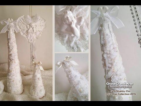 DIY - Cuori e Alberi di Natale Shabby chic in lana