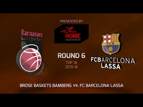 Highlights: Top 16, Round 6, Brose Baskets Bamberg 74-70 FC Barcelona Lassa