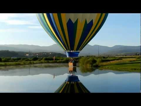video:Splash in Dash in the Colorado Rockies! Grand Adventure Balloons Winter Park