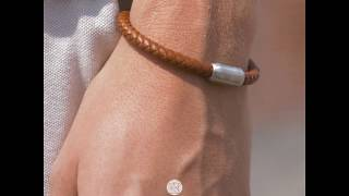 Sem Lewis Bakerloo Queen's Park leren armband cognac