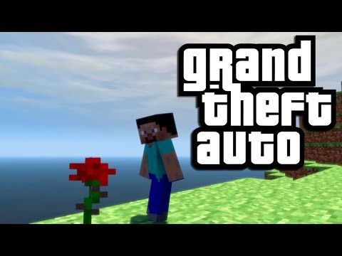 GTA Mods: Minecraft Map Mod! (Funny Moments with Minecraft Steve in GTA IV)