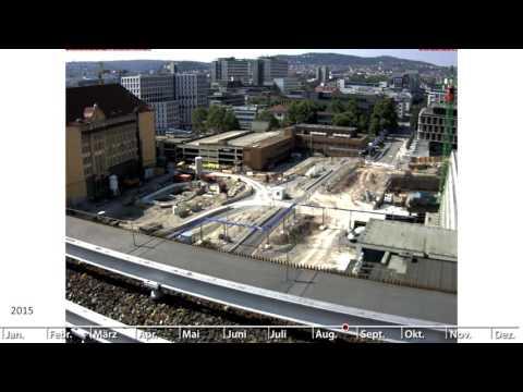 Stuttgart 21: Nordkopf, Jägerstraße (Zeitrafferfilme 2014-2015)