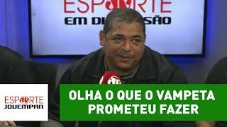 Vampeta fez uma curiosa promessa caso o São Paulo seja rebaixado à Série B. Descubra o que ele prometeu no vídeo acima!