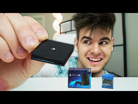 Playing Games On The Worlds SMALLEST PS4 - Challenge