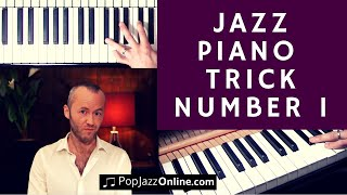 A very clever Jazz Piano Trick that sounds good 🎹😃 - Jazz piano keyboard lesson