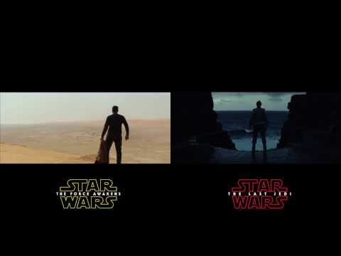 Star Wars: The Last Jedi Teaser Compared to clips from The Force Awakens Trailers