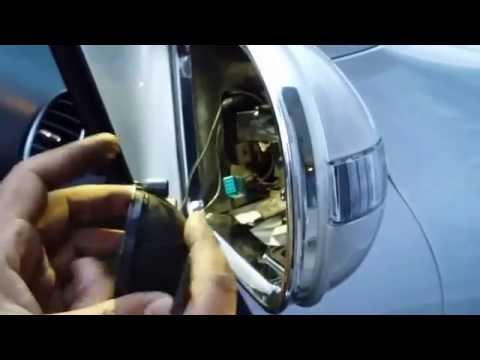 How to change Right Door Mirror Cover w/Light Indicator for W164 Mercedes
