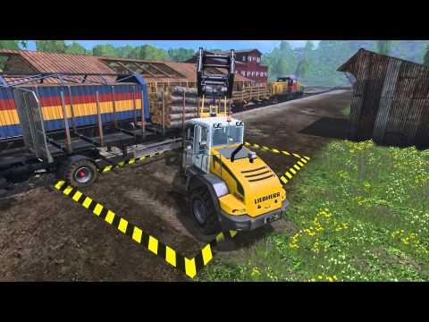 лесозаготовка в Farming Simulator 15