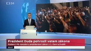 Prezident Duda pohrozil vetem zákona