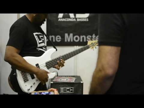 Andrew Gouche   Anaconda Bass   London Bass Guitar Show 2017