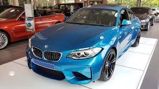 """Hello and welcome to BMW.view. In this video we review the interior and exterior of the 2017 BMW M2 Coupé (F87). Produced in 4K. Facebook: https://www.facebook.com/pages/BMWview/860051290681663?ref=hlsubscribe -[BMW.view]- here: https://www.youtube.com/channel/UCuZoR8ZNgfPKBaPMPryyD1gMotor/engine: 272 KW/2979 ccmLackierung: Long Beach Blau metallicPolster: Leder Dakota Schwarz Kontrastnaht Blau/SchwarzFelgen: 19"""" M LM Räder Doppelspeiche 437Licht: Adaptiver LED-ScheinwerferGrundpreis: 59.500 ,00 EURSonderausstattung: 6.900,00 EURTronsportkosten: 650,00 EURServicepaket Zulassung: 165,00 EURGesamtpreis = 67.215,00 EUR"""