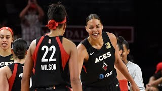 Wilson, Cambage Combine For 48 PTS, Aces Clinch Playoff Spot by WNBA