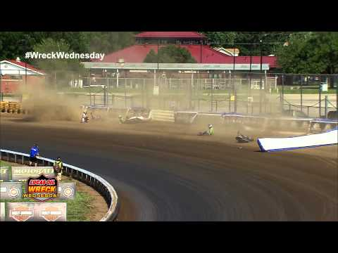 4 Riders Crash into the air fence at the 2012 Springfield Mile - WW #15
