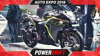 Honda CBR 250R @ Auto Expo 2018 : PowerDrift