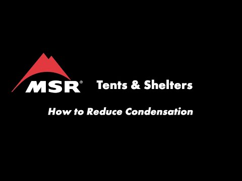 What causes condensation in a tent