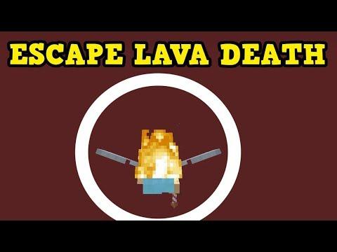 Minecraft Xbox / PE - How To ESCAPE LAVA DEATH