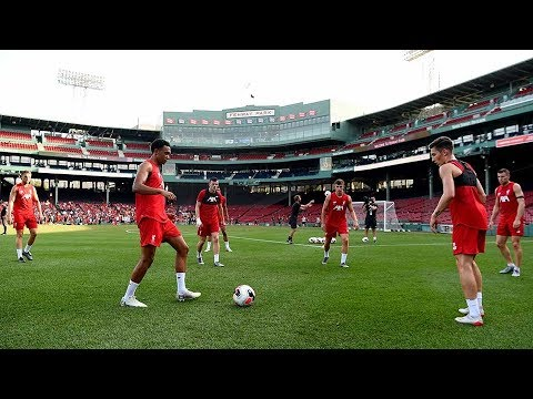 Video: Liverpool FC train at Fenway Park ahead of Sevilla friendly