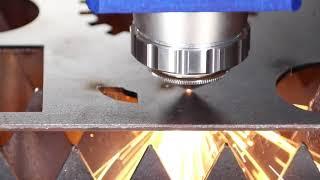 Fiber Laser cutting machine for Aluminum veneer curtain wall youtube video