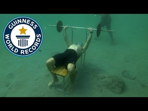 Most bench presses underwater