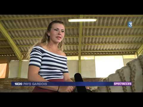France3 17/07/2017  Uzes spéctacle équestre voyage à Paris