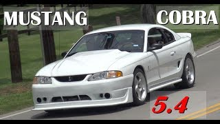 HPP Performance 5.4 High Performance Naturally Aspirated 1996 Ford Mustang COBRA that makes 440 wheel horsepower on a conservative tune. The transmission is a Borg-Warner T56 6-Speed. It has Koni adjustable shocks, Eibach springs, and a Cobra R front air dam. This is a beast to drive and is set up to handle MORE power. Enjoy the video. Samspace81 for high performance cars, classic cars, musclecars, classic trucks, exotic cars, modern muscle, road tests, test drive, retro videos, and more with automobiles. Follow me on Facebook - https://www.facebook.com/samspace81/