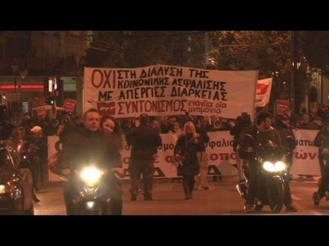Συλλαλητήριο της ΑΔΕΔΥ για το ασφαλιστικό στην πλ. Κλαυθμώνος