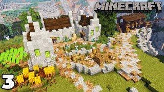 Building a Mine #3 Custom Village Housing : Minecraft 1.14 Survival Let's Play