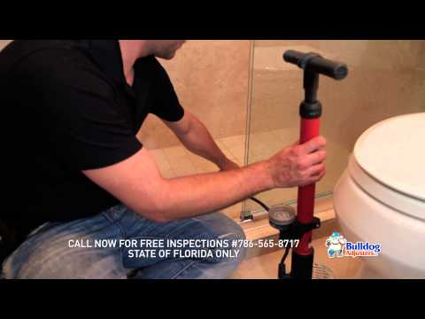 Performing A Shower Pan Test : Sponsored by BulldogAdjusters.com call 786-565-8717