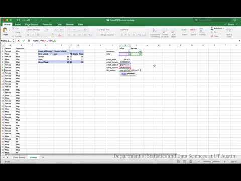 Two Proportion z-test in Excel 2016