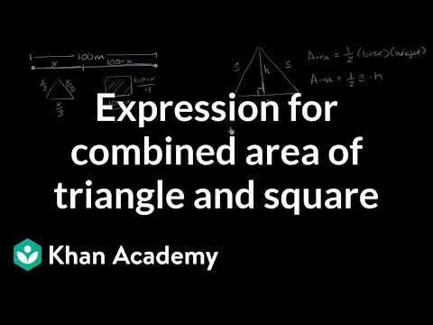 Optimization Area Of Triangle Square Part 1 Video Khan Academy