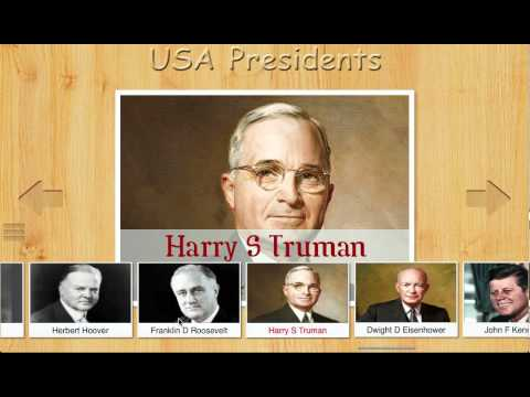 Video of USA Presidents Flashcards
