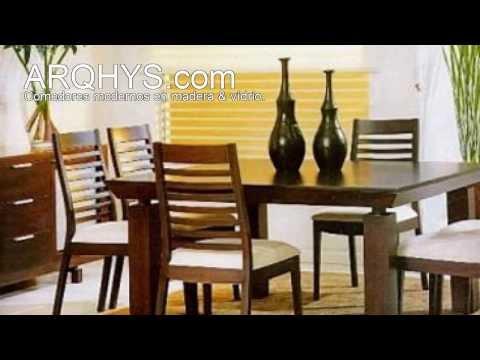 Comedores de madera modernos videos videos for Comedores de madera y vidrio