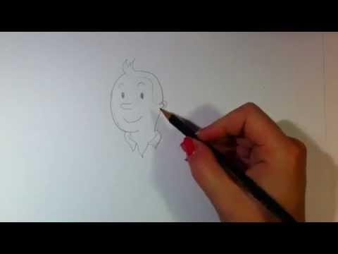 Tim von Tim und Struppi zeichnen lernen / Tim malen