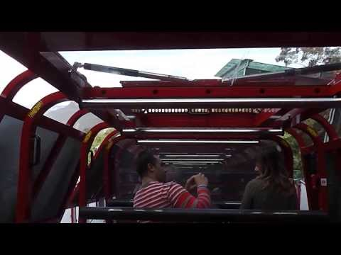 Riding the World's Steepest Railway - Scenic World Blue Mountains Sydney Australia (видео)