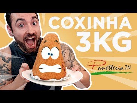 Desafio #34 - Coxinha de 3kg! (8490kcal)
