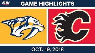 NHL Highlights   Predators vs. Flames - Oct. 19, 2018 by Sportsnet Canada