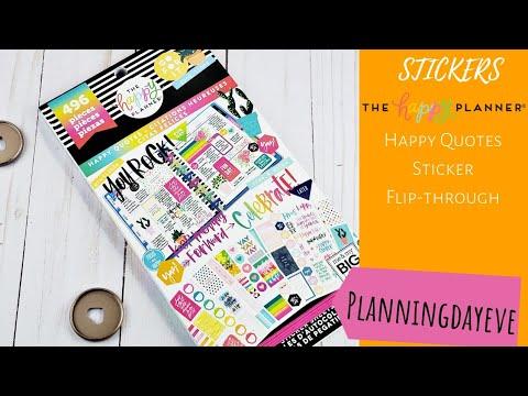 Happy Quotes Flip Through Happy Planner Stickers