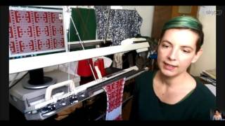 Veronika Persché: Digitale Strickmaschine