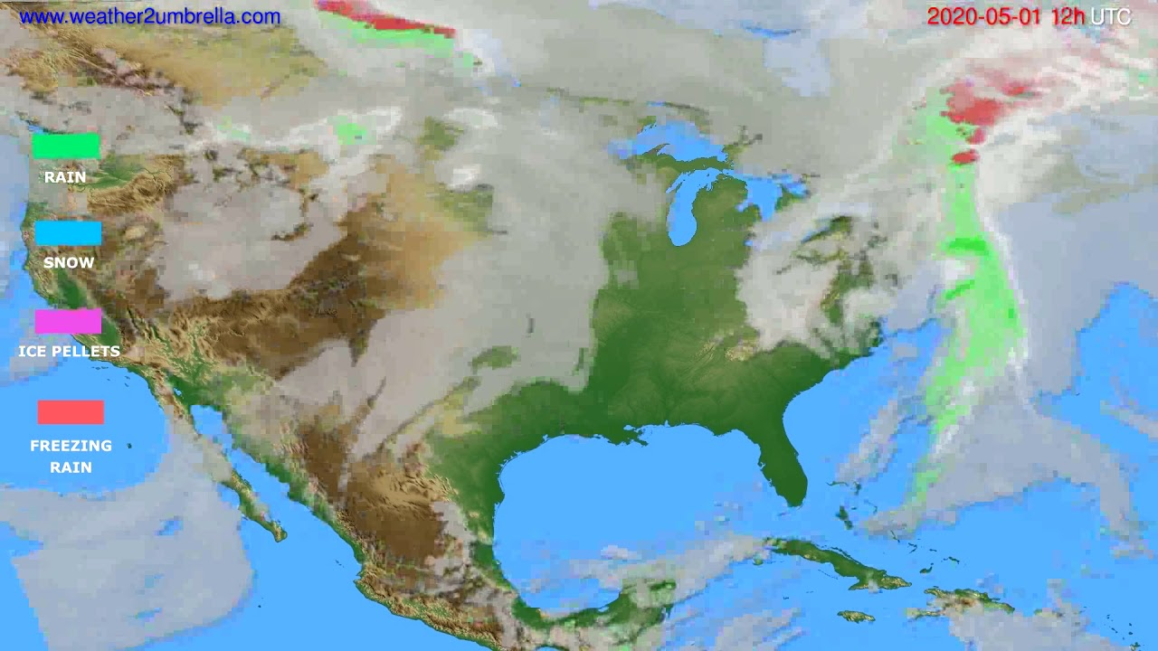 Precipitation forecast USA & Canada // modelrun: 00h UTC 2020-05-01