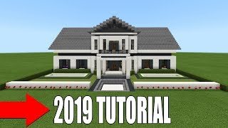 """Minecraft Tutorial: How To Make The Ultimate Suburban Mansion """"2019 Tutorial"""""""
