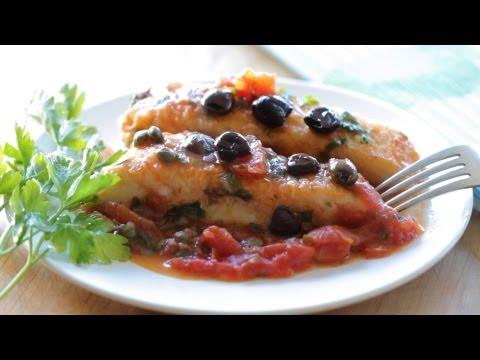Mediterranean Diet: How to Cook a Healthy Mediterranean Style Halibut Fillet