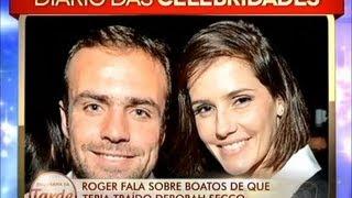O casal Roger Flores e Deborah Secco parece estar passando por uma crise no relacionamento. Existem boatos de que o jogador teria traído a atriz. Veja!