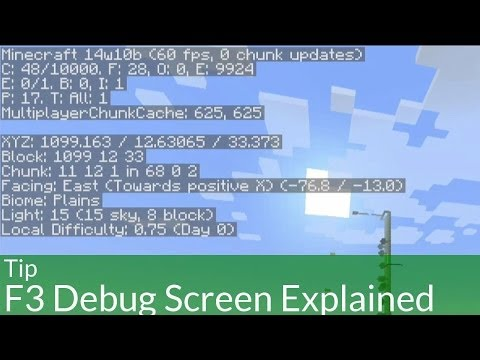 Tip: Minecraft F3 Debug Screen Explained