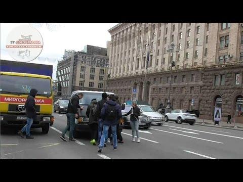 Ошукані пікетники затримали організатора ходи проти Яценюка. Київ. (відео)