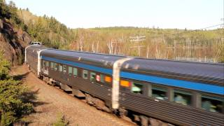 Sioux Lookout (ON) Canada  city photos gallery : VIA Rail train #2, The Canadian at Sioux Lookout, Ontario