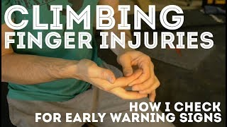 Checking for early warning signs of climbing finger injuries by Jackson Climbs