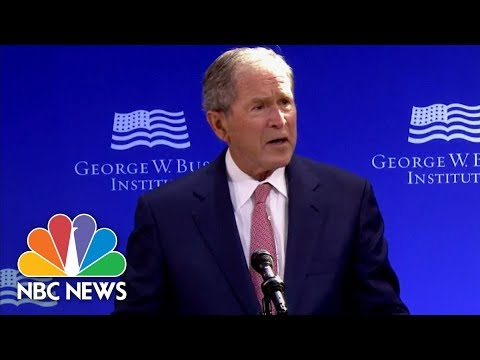 Former President George W. Bush Says Public Discourse In US 'Degraded By Casual Cruelty' | NBC News