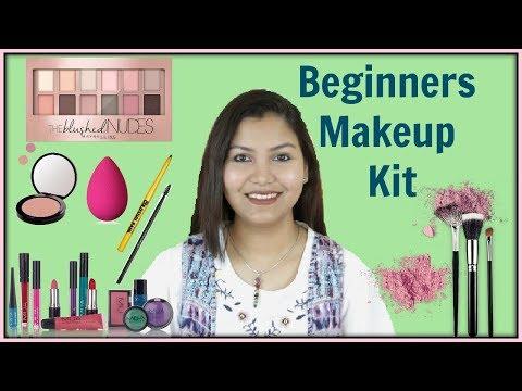 मेकअप किट में क्या क्या सामान होना चाहिए / MakeUp Kit For Beginners INDIANGIRLCHANNEL TRISHA