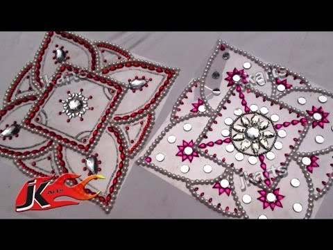 DIY How To Make Kundan Rangoli JK Arts 078
