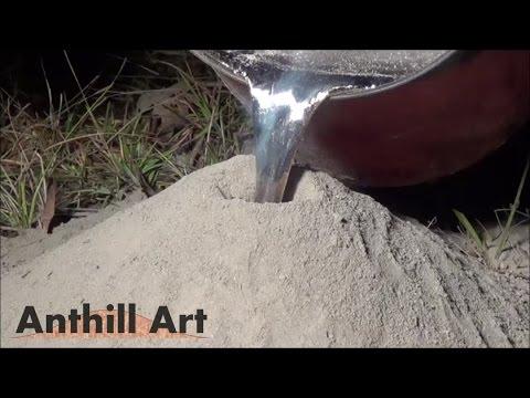把融化的鋁灌入螞蟻洞就是藝術品?!